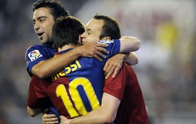 Messi, Iniesta ou Xavi ?