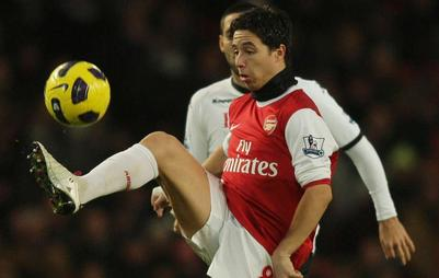 Nasri propulse Arsenal en pôle
