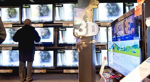 Un tiers des foyers aura une télé 3D d'ici à cinq ans