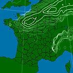 La perturbation, mercredi, au dessus de l'Ile-de-France.