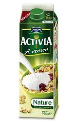 «Activia à verser» sera vendu nature ou à la vanille, dans une brique Tetra Pak d'un litre.