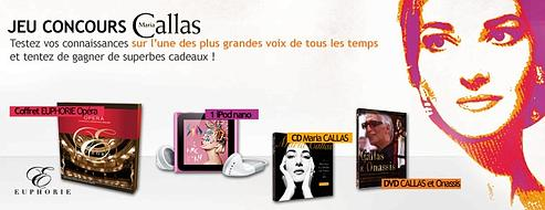 Les résultat du jeu-concours Maria Callas