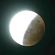 Éclipse totale de lune, ce matin