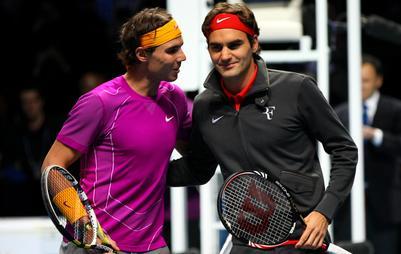 Federer et Nadal en pères Noël