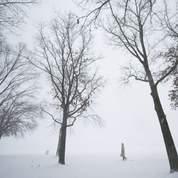 Wall Street glacée par la neige