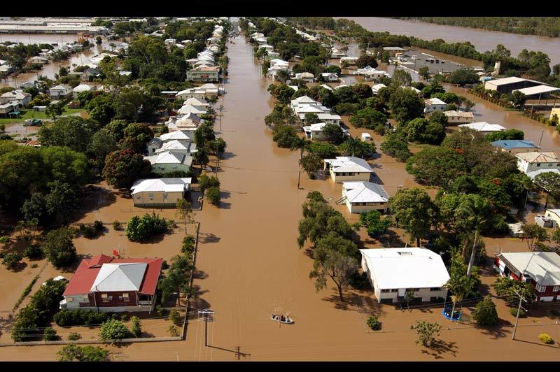Dimanche 2 janvier, la petite ville de Rockhampton, au nord-est de l'Australie, était toujours coupée du reste du pays par les inondations les plus graves de ces cinquante dernières années.
