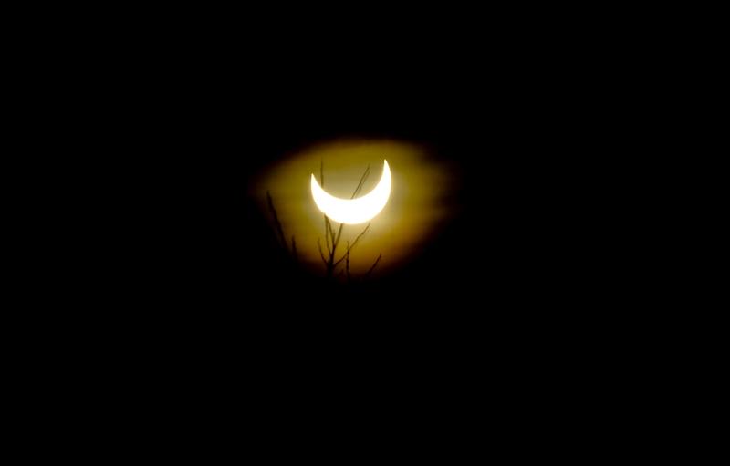 Les habitants de Sopron, une ville située à la frontière austro-hongroise, ont assisté à l'éclipse dans des conditions météorologiques très favorables.