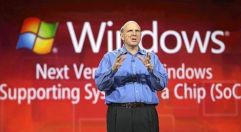 Steve Ballmer, PDG de Microsoft, le 11 octobre 2010 à New York. Le géant américain de l'informatique a présenté, mercredi à Las Vegas, toute une série de produits aptes à concurrencer son rival, Apple.