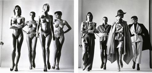 «Sie kommen, Naked & Dressed», Helmut Newton, Paris, 1981. (Helmut Newton/Collection Maison Européenne de la Photographie, Paris)