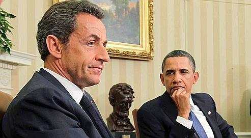 Nicolas Sarkozyet Barack Obama,hier à Washington.