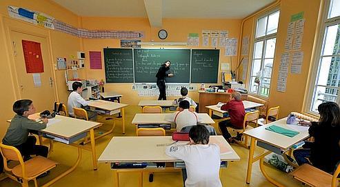 Des élèves de CM2 à Honfleur en 2009 (Illustration).