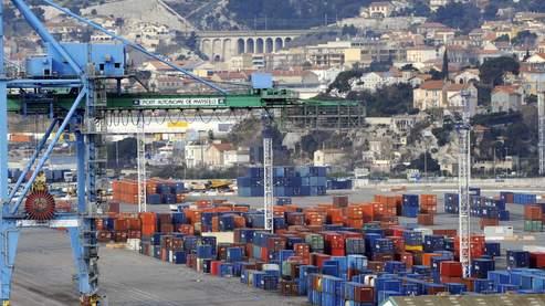Les conteneurs du port de Marseille-Fos.
