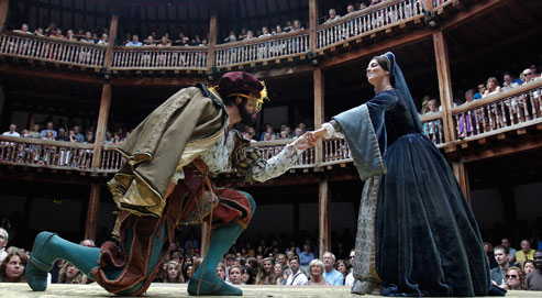 """the importance of the globe theater in shakespeares career Examine the life, times, and work of william shakespeare through  it wasn't a long career:  actors try to avoid saying """"macbeth"""" in a theater."""