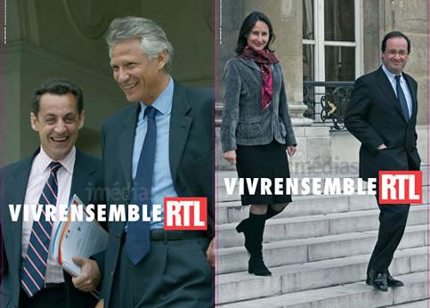En 2006, la France est en pleine campagne présidentielle. La radio RTL joue des relations tendues entre Nicolas Sarkozy et son rival Dominique de Villepin, par opposition au tandem Ségolène Royal-François Hollande, alliés politiques et couple à la ville (ils n'annonceront leur séparation qu'en juin 2007).