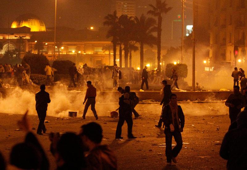 """Importantes manifestations en Egypte. """"Moubarak dégage"""", scandent les manifestants 20110126PHOWWW00070"""