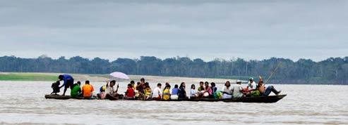 Dans la province du Loreto, les routes sont rares : tout se passe sur le fleuve. (Éric Martin/Le Figaro Magazine)