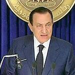 Hosni Moubarak lors de son discours mardi soir.