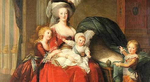 Sur la page du château de Versailles, le portrait de Marie-Antoinette avec ses enfants est en ultra haute définition (7 milliard de pixels). Crédits photo: Google.
