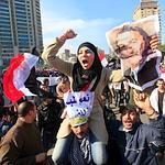 Des manifestants pro-Moubarak mercredi au Caire.