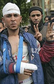 Mohammed Saïd, 29 ans, a reçu un coup de sabre.