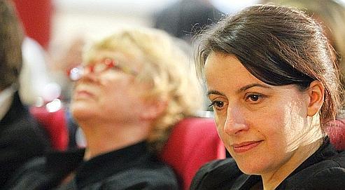 Cécile Duflot, le 29 janvier à Paris, lors du conseil fédéral qui rassemble les cadres d'Europe-Écologie-Les Verts.