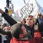 Des manifestants place Tahrir.