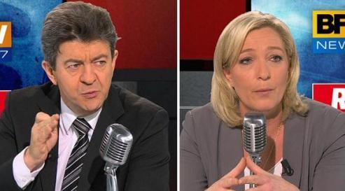 Débat Mélenchon - Le Pen :les deux Fronts face à face