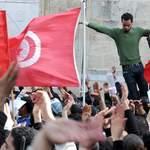 Des manifestants réclament la démission du gouvernement, à Tunis dimanche.