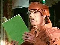 Kadhafi s'est appuyé sur le «livre vert» lors de son allocution pour menacer de mort les manifestants.