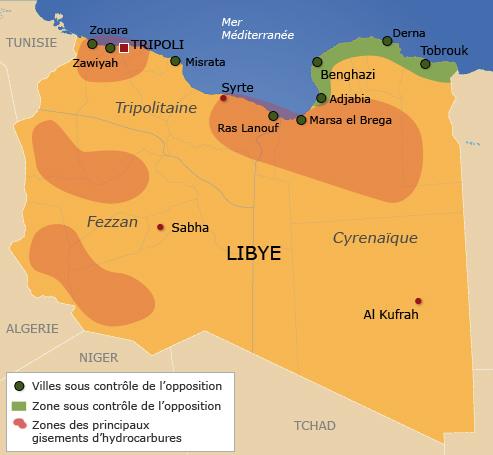 L'opposition revendique le contrôle d'une grande moitié est du pays et affirme s'être emparée ces derniers jours de plusieurs villes dans l'ouest.