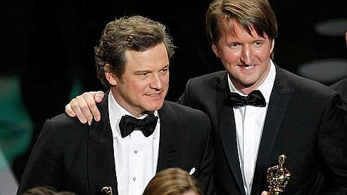 Colin Firth, George VI dans le Discours d'un roi, et son réalisateur Tom Hooper.