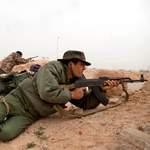Un combattant rebelle près de Ras Lanouf.