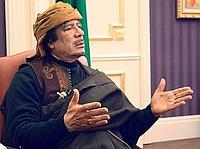 Kadhafi lors de son interview avec la télévision turque.