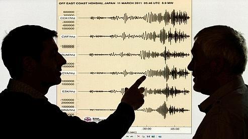 Enregistrement spectaculaire du séisme survenu au Japon vendredi.
