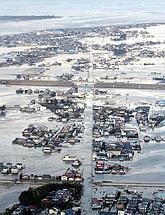 La ville de Yamamoto sous les eaux.