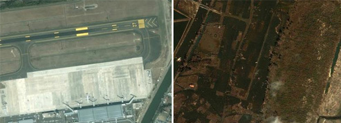 Le Japon vu du ciel, avant et après le tsunami