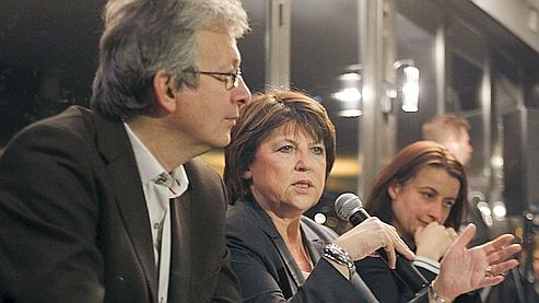 À l'issue d'une réunion, Martine Aubry, Cécile Duflot et Pierre Laurent ont appelé ensemble au rassemblement.