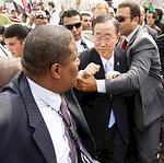 Ban Ki-moon, lundi, au Caire.