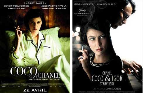 Les deux affiches de films sur Coco Chanel. (DR)