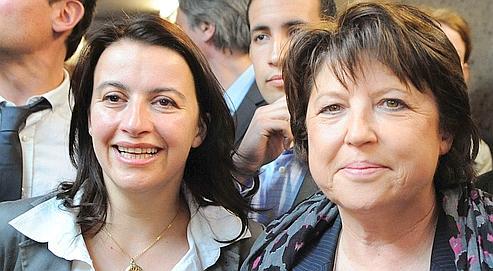 Cantonales : Aubry et Duflot mettent leur union en scène