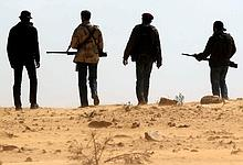 Des rebelles près d'Ajdabiya jeudi.