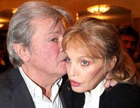 Alain Delon et Arielle Dombasle. (Duclos/SIPA)