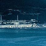 Vue aérienne de la centrale de Fukushima.