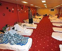 Un navire-hôpital turc a pu évacuer 250 blessés de Misrata dimanche.