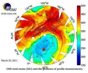 Arctique trou record dans la couche d 39 ozone - Consequences de la destruction de la couche d ozone ...