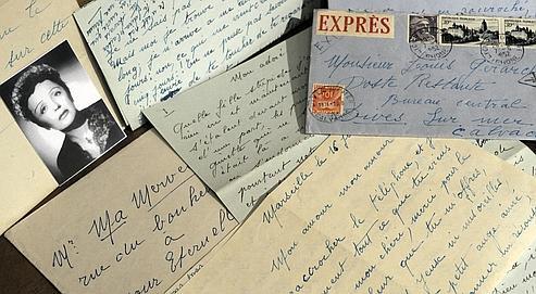 Entre novembre 1951 et septembre 1952, Edith Piaf écrira beaucoup au champion cycliste Louis Gérardin pour qui elle voue un amour immodéré. Crédits photo : STEPHANE DE SAKUTIN/AFP.