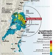Fukushima : la carte des zones contaminées