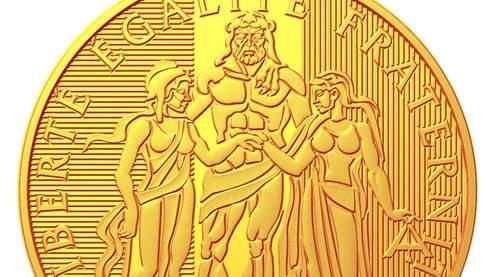 Des pièces Hercule en or et argent