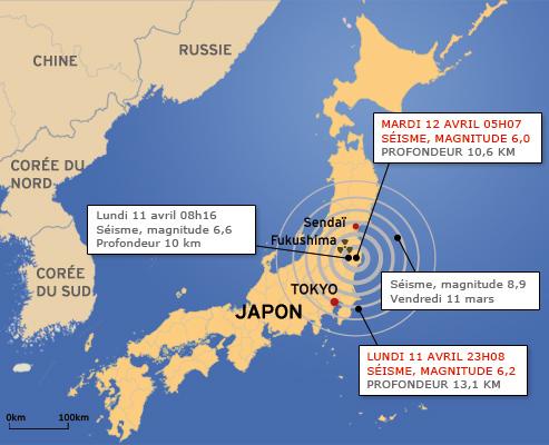 Les heures sont données dans le système international GMT. Il faut rajouter 9 heures pour avoir l'heure au Japon et deux pour avoir celle en France.