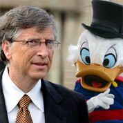 Picsou presque aussi riche que Bill Gates